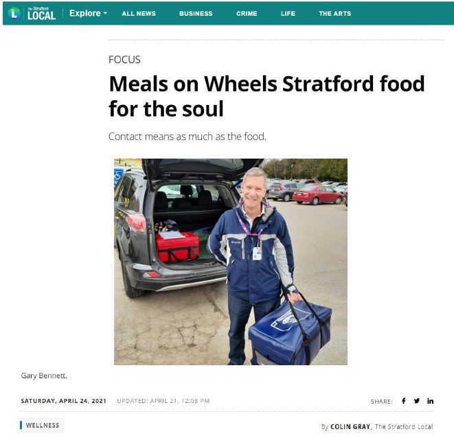 ONE CARE article in Stratford Local