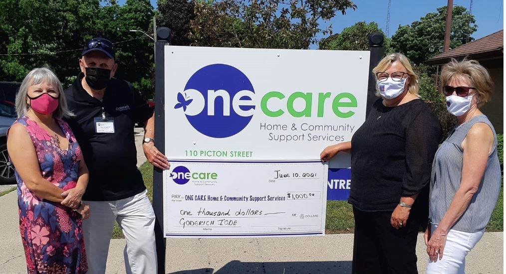 IODE Goderich gives donation to ONE CARE