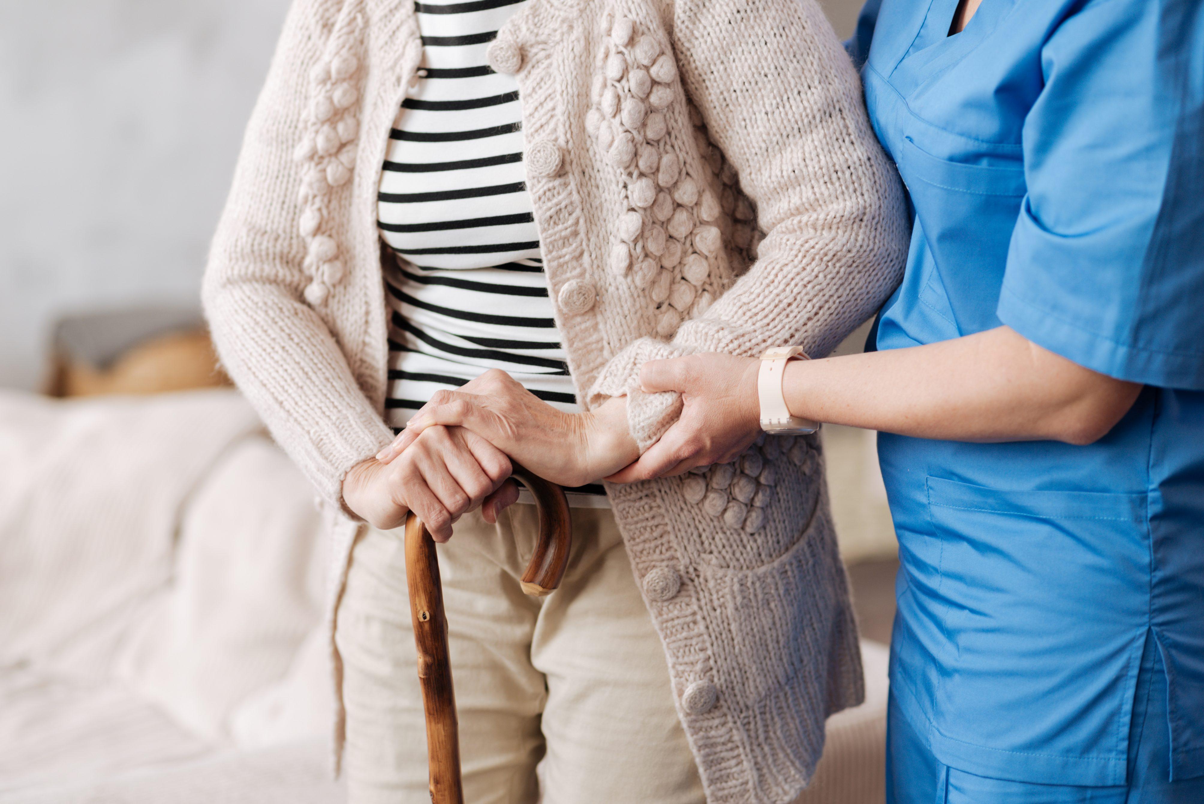 Nurse & Client, no faces