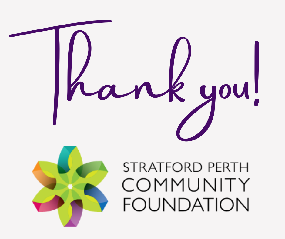 Thank you Stratford Perth Community Foundation